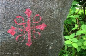 Stein med pilegrimsmerke